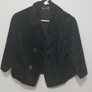 A Winter Product - Vintage crushed velvet jacket
